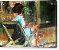 Waiting For The Call Acrylic Print by Laurend Doumba