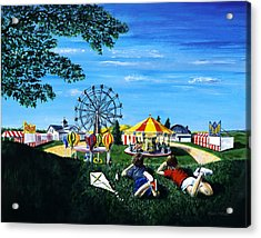 Waiting For The Fair Acrylic Print by Ron Haist