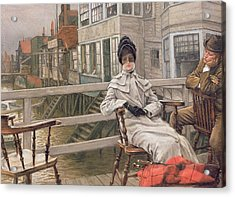 Waiting For The Ferry Acrylic Print by James Jacques Joseph Tissot