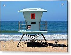 Waiting For The Lifeguard Acrylic Print by Susan Wiedmann