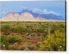 Acrylic Print featuring the photograph 16x20 Canvas - Superstition Mountain Light by Tam Ryan