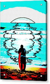 Acrylic Print featuring the mixed media The Wave by Lisa McKinney