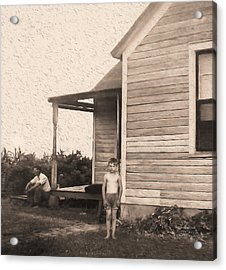 Waiting For The Rain Wataga Illinois 1944 Acrylic Print
