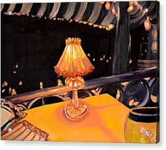 Acrylic Print featuring the painting Waiting For The Show To Start by Julie Todd-Cundiff