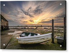 Waiting For The Tide Acrylic Print by Jacqui Collett
