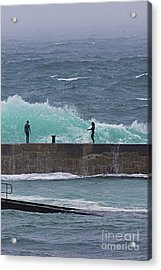Waiting For The Wave Acrylic Print by Terri Waters