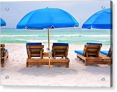 Panama City Beach Digital Painting Acrylic Print by Vizual Studio