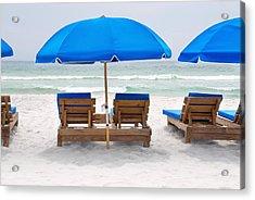 Panama City Beach Florida Empty Chairs Acrylic Print by Vizual Studio