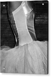 Waiting Her Turn Bw Acrylic Print