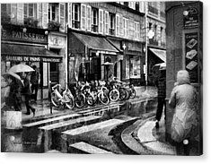 Waiting In The Bar For The Rain To Pass #1 Acrylic Print by Aleksander Rotner