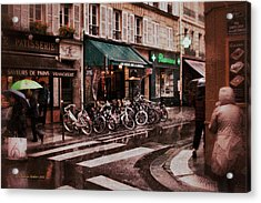 Waiting In The Bar For The Rain To Pass #2 Acrylic Print by Aleksander Rotner