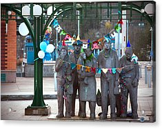 Waiting In The Interurban Acrylic Print by Joanna Madloch