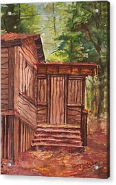 Acrylic Print featuring the painting Waiting by Joy Nichols