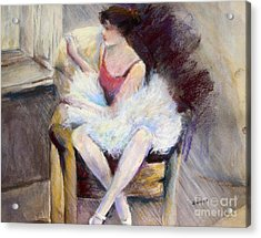 Waiting Acrylic Print by Joyce A Guariglia