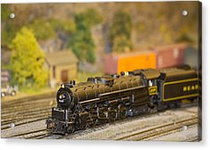 Waiting Model Train  Acrylic Print