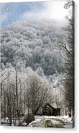 Waiting Out Winter Acrylic Print by John Haldane