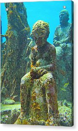 Waiting Patiently For The Coral To Grow Up Acrylic Print by Halifax photographer John Malone