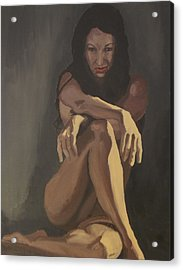 Acrylic Print featuring the painting Waiting by Stephen Panoushek