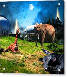 Waiting To Be Abducted By The Visitors At The Chabot Space And Science Center In The Hills Of Oaklan Acrylic Print by Wingsdomain Art and Photography