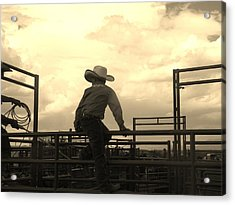 Waiting To Ride Acrylic Print by Feva  Fotos