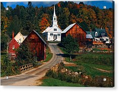 Waits River Village Acrylic Print by Andy Richards