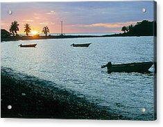 Waitukubuli Sunset Acrylic Print