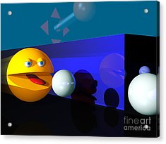 Acrylic Print featuring the digital art Waka Waka Waka by Tony Cooper