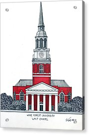 Wake Forest Acrylic Print