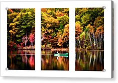Walden Pond In Three Acrylic Print by Garland Johnson