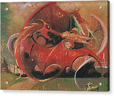 Wales Vs England  Acrylic Print by Jessica Davies