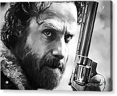 Walking Dead - Rick Grimes Acrylic Print by Paul Tagliamonte