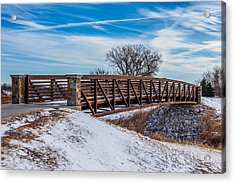 Walk Across Bridge Acrylic Print by Doug Long