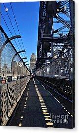 Walk Across Sydney Harbour Bridge Acrylic Print by Kaye Menner