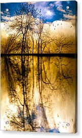 Walk Along The River Acrylic Print by Bob Orsillo