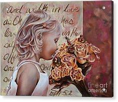 Walk In Love Acrylic Print