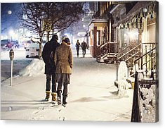 Walk In The Snow Acrylic Print