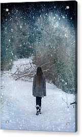 Walk In The Snow Acrylic Print by Joana Kruse