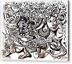 Walk Acrylic Print by Kritsana Tasingh