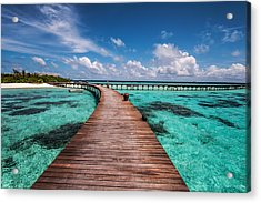 Walk Over The Water Acrylic Print