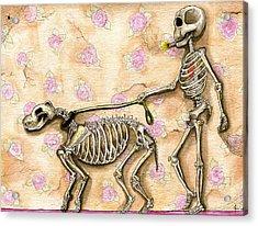 Walk The Dog Acrylic Print