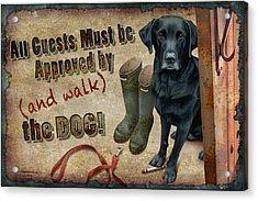 Walk The Dog Acrylic Print by JQ Licensing