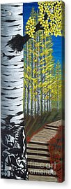 Walk Through Aspens Triptych 1 Acrylic Print