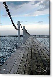 Walk To The Ocean Acrylic Print by Kaye Menner