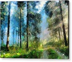 Walk Towards Spring Acrylic Print by Georgiana Romanovna