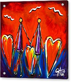 Acrylic Print featuring the painting Walk With Me by Jackie Carpenter