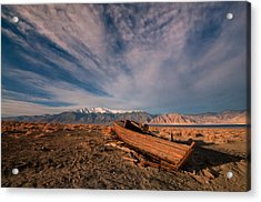 Acrylic Print featuring the photograph Walker Lake Fishing Boat by Janis Knight