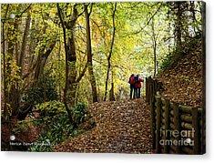 Walkers In The Woods Acrylic Print by Merice Ewart