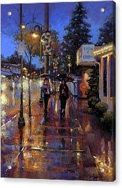 Walkin' In The Rain Acrylic Print by Dianna Ponting