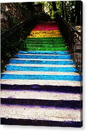 Walkin' On Rainbow Acrylic Print