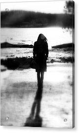 Walking Alone Acrylic Print by Valentino Visentini